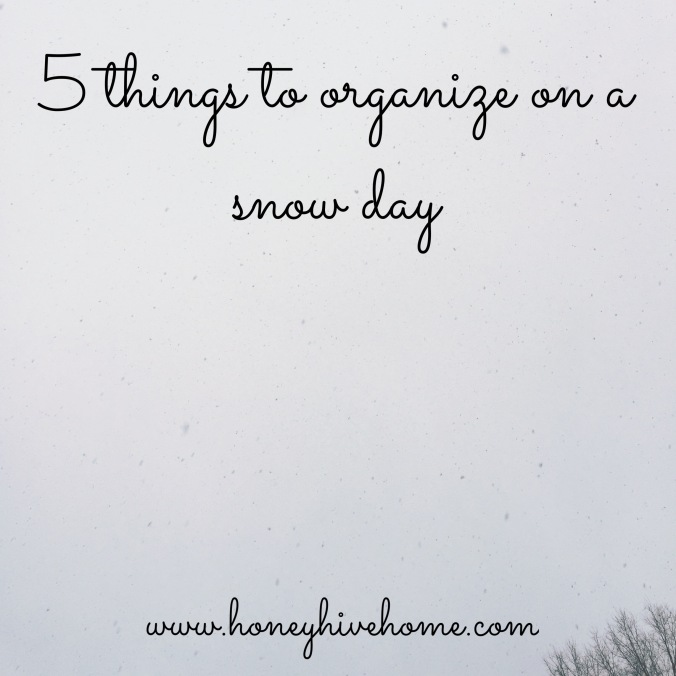 chapel hill professional organizer_5 things to organize on a snow day