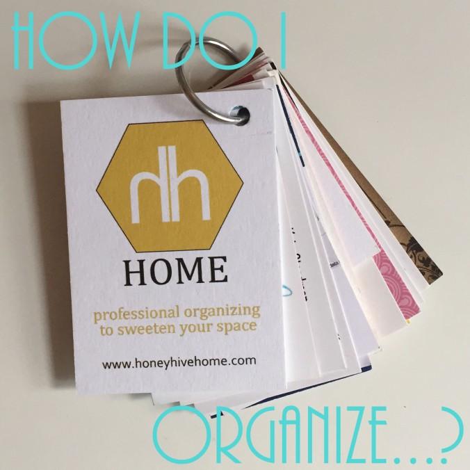 how do i organize business cards