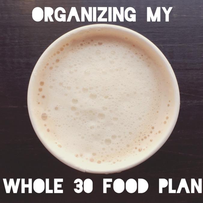organizing whole 30 food plan